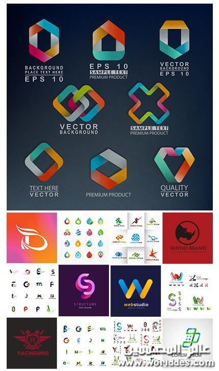 مجموعه لوجوهات احرف جاامده Logo