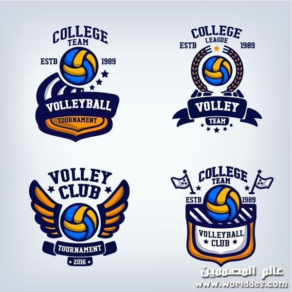 لوجوهات وشعارات التنس Volleyball Game