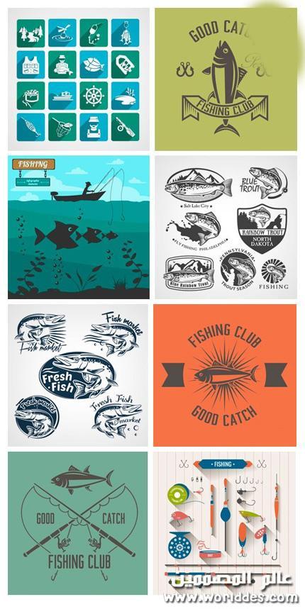 شعارات لنوادي الصيد Fishing Club