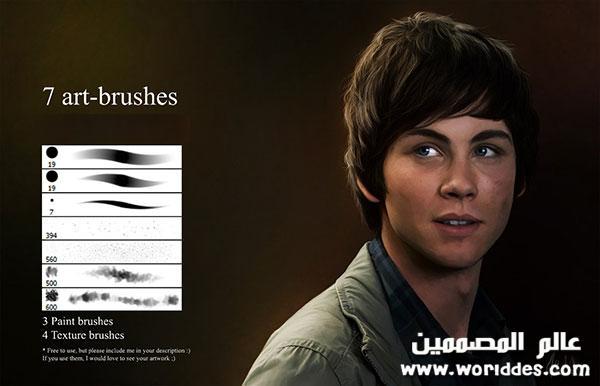 للرسم الديجتال Human Skin Brushes