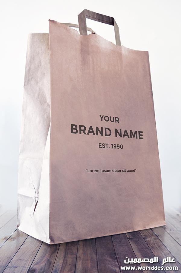 حقيبة تسوق ورقية عالم المصممين