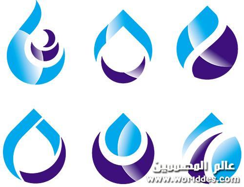 مجموعة قطرات مياه للوجوهات عالم