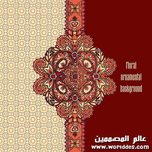 خلفيات فيكتور بزخارف اسلامية رائعه