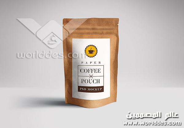 قهوة Coffee Pouch Mockup مقدم