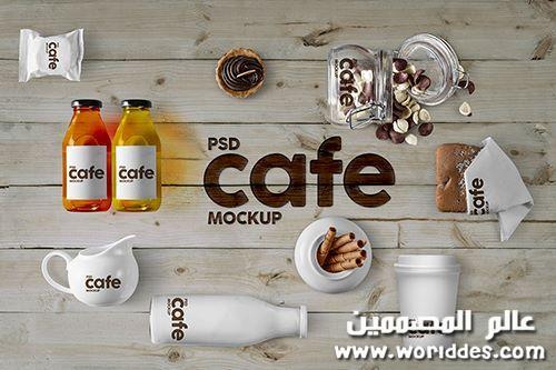 زجاجات تعبئة وتغليف Cafe Mockupcm