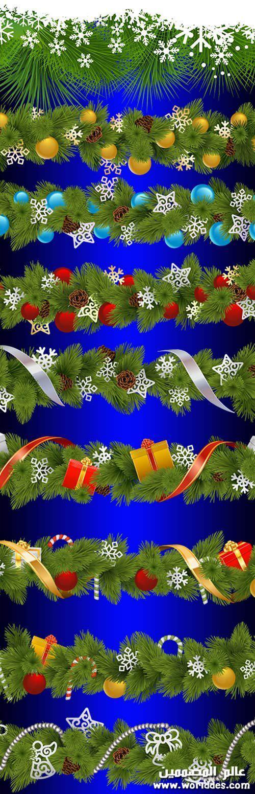 اطارات وركنات الميلاد Christmas borders